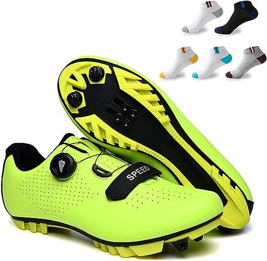 XFQ Adultos Ciclismo Zapatos, Zapatos Unisex De Bicicleta De ...