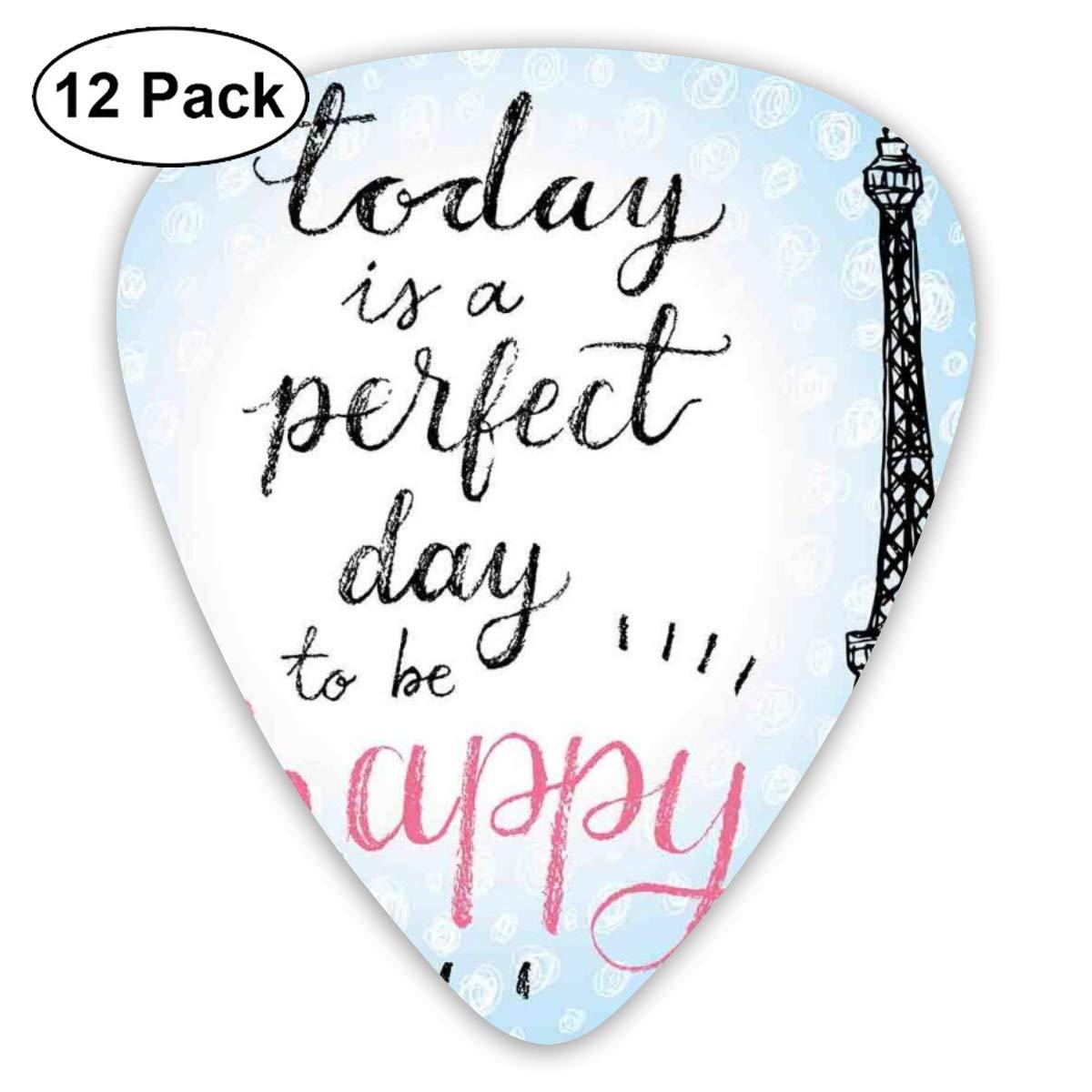 Guitar Picks 12-Pack,Perfect Day Eiffel Tower Polka Dot ...