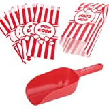 Poppy's Popcorn Scoop and Popcorn Bags Bundle, Nostalgic Popcorn Accessories for Popcorn Machine and Popcorn Bar…