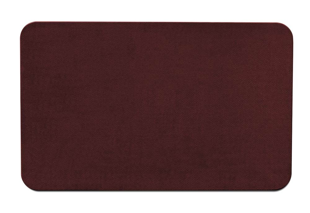 House, Home and More Skid-Resistant Carpet Indoor Area Rug Floor Mat - Burgundy Red - 3 Feet X 5 Feet