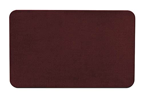House, Home and More Skid-Resistant Carpet Indoor Area Rug Floor Mat – Burgundy Red – 4 Feet X 6 Feet