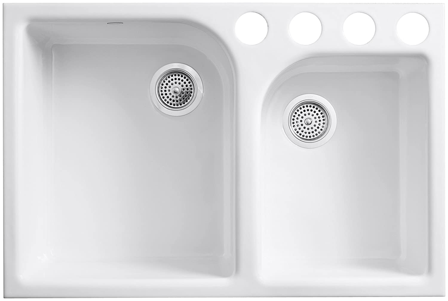 kohler k59314u0 executive chef kitchen sink white cast iron sink amazoncom - Cast Iron Kitchen Sinks