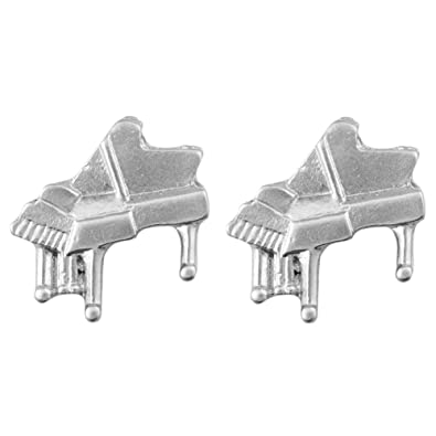 Stud-earrings Musical Orchestra (Piano In Silver Finish ...