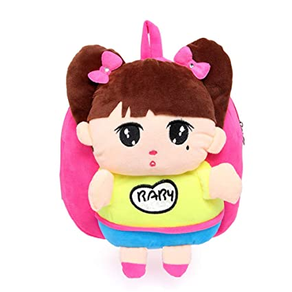 da455ab749 Swesy Kids Toddler Baby Boys Girls Backpack Plush Toy Backpack Snack Bag  Travel Bag for 1-3 Years (Baby Girl Rose Red)