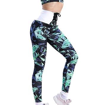 Pantalones Yoga Mujeres, CICIYONER Mujeres Cintura Alta Yoga ...