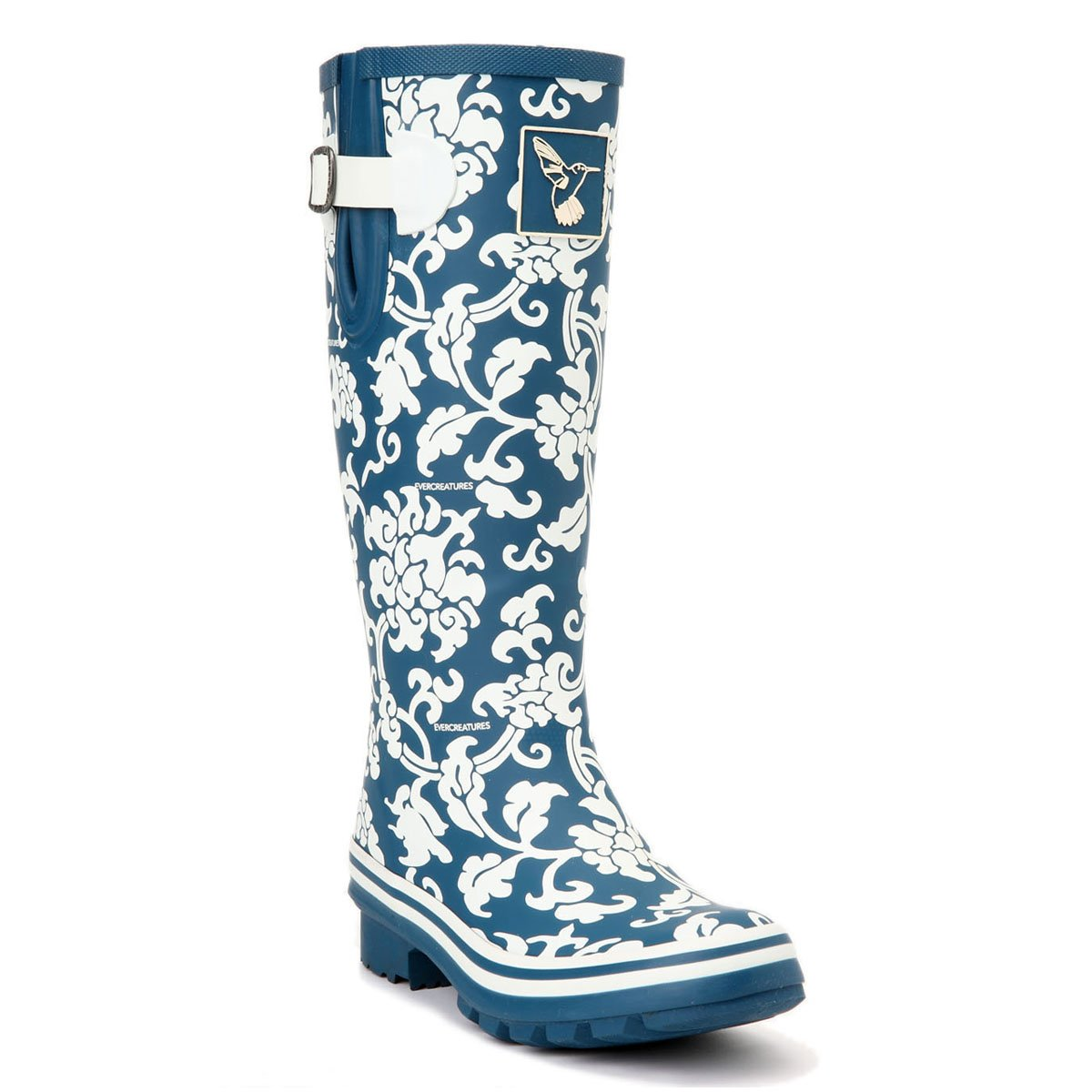 Evercreatures Women's Rain Boots UK Brand Original Tall Rain Boot Gumboots Wellies B00TUZK0HY 6 B(M) US / UK4 / EU37|Blue_delft