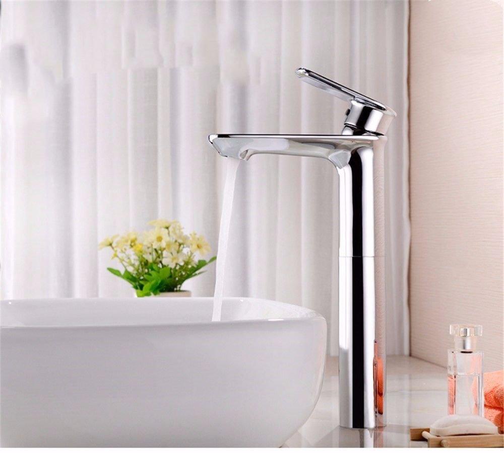 MMFHP Waschbecken Wasserhahn Kupfer Badezimmer unter Theke Becken warmen und kalten Wasserhahn