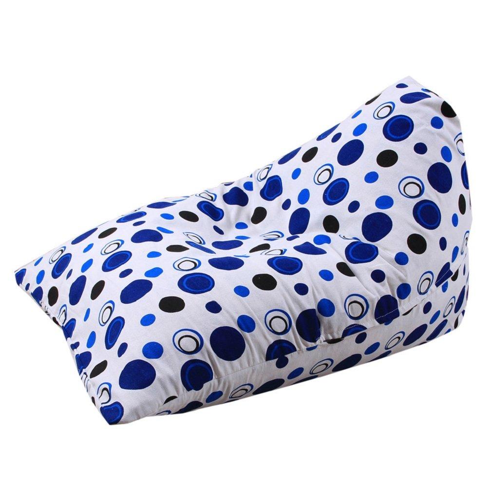 SUKEQ Stuffed Animal Storage Bean Bag, Kids Comfy Chair Plush Toy Blankets Soft Cotton Pouch Storage Organizer Toy Bag (D)