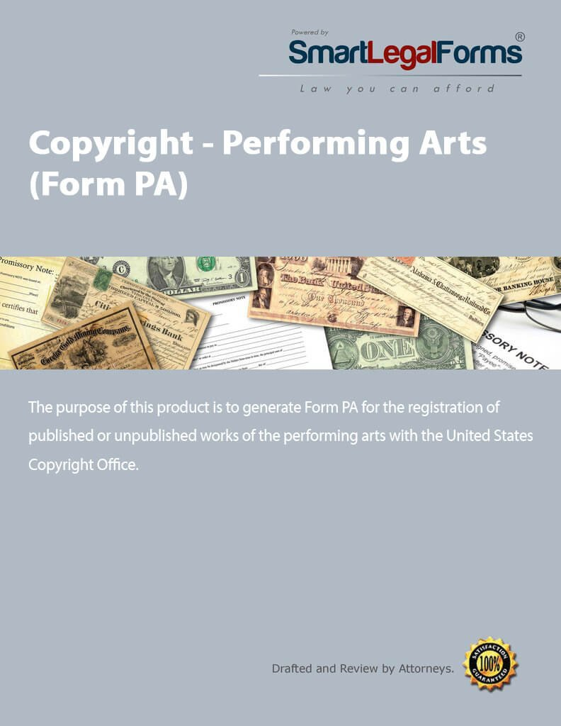 Copyright - Performing Arts (Form PA) [Instant Access] by SmartLegalForms, Inc.