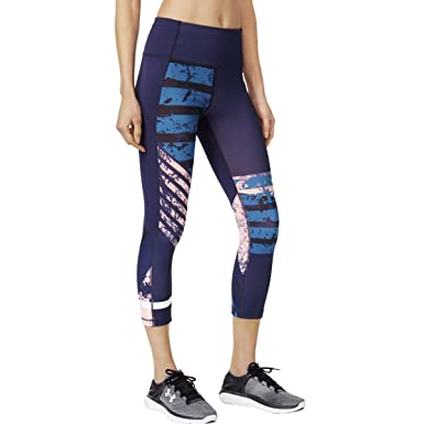 Steady Under Armour Heatgear Grapic Womens Long Training Tights Black Activewear Bottoms