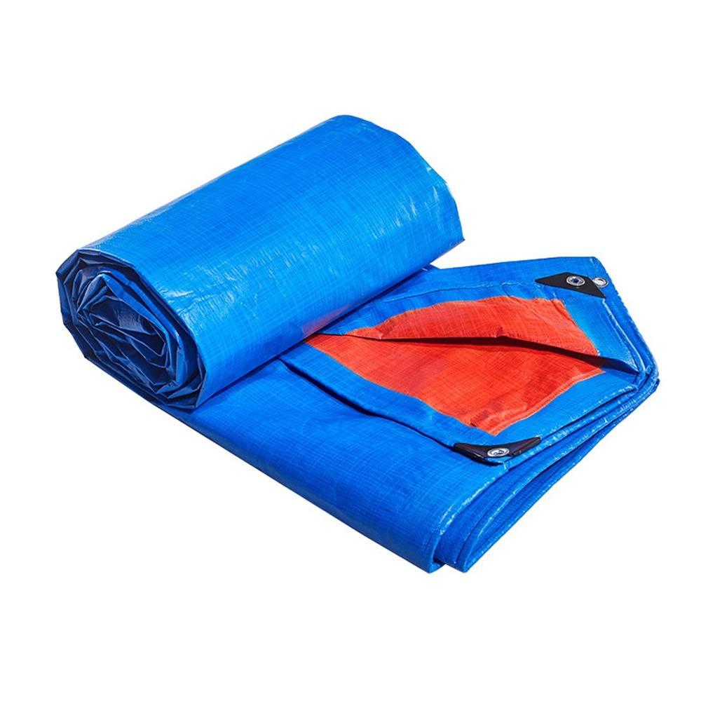 2x4m BÂches ZXMEI, RevêteHommest De Sol en Imperméable Verte Solide for Le Camping, La Pêche, Le Jardinage Et Les Animaux Domestiques (Bleu) (Taille   5x5m)