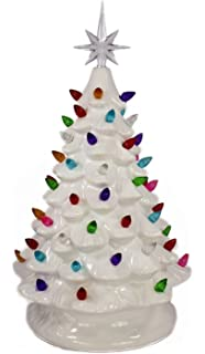 relive christmas is forever lighted tabletop ceramic tree 145 white treemulti color - White Ceramic Christmas Tree