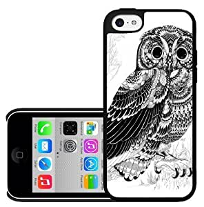 diy phone caseBlack and White Owl on White Background Hard Snap on Phone Case (iphone 5/5s) Designed by HnW Accessoriesdiy phone case