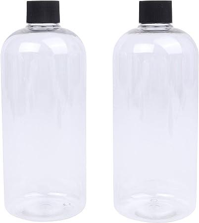 LUCEMILL Boston Botellas de plástico PET transparentes con tapón ...
