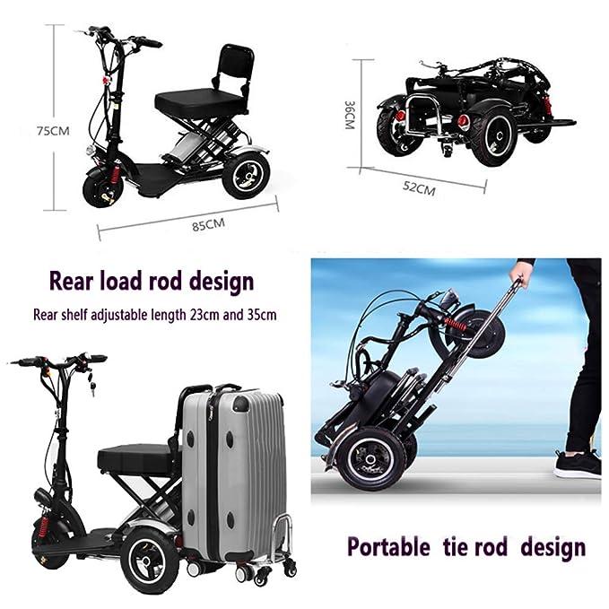 Silla de Ruedas eléctrica Ancianos discapacitados Mini ...