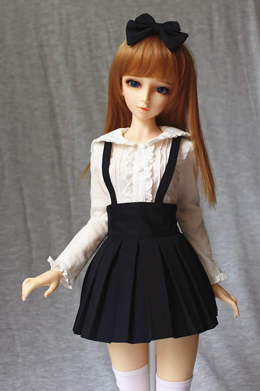 DOD HYCY BJD Handmade Doll Dress Student Pleated Suspender Gray Dress for 1//3 SD LUTS Gray AS DZ Dolls Clothes Accessories
