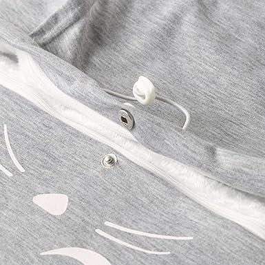 Luckycat Las Mujeres Gato Cara Impresa más tamaño Grueso Terciopelo Sudadera con Capucha con cordón Sudadera: Amazon.es: Ropa y accesorios