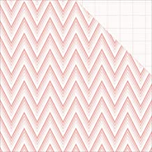 """Teresa Collins 25 Sheets Ombre Chevron Project Pink Double-Sided Cardstock, 12 x 12"""""""