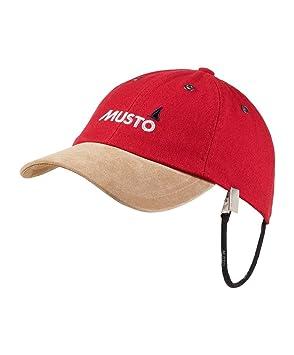 40e89187 Musto Evo Original Crew Cap Hat In True Red - Unisex - 100% cotton ...