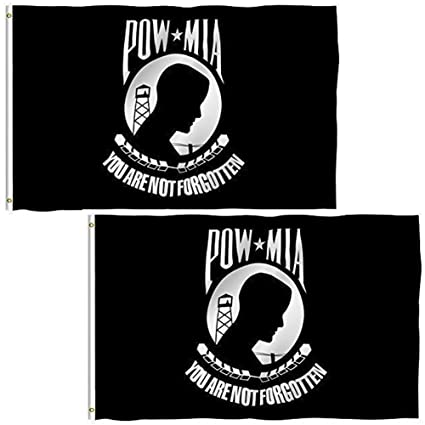 Verzamelingen Insignes NEW 2-SIDED POW/ MIA FLAGS 3'X5' SOLD BY A VET