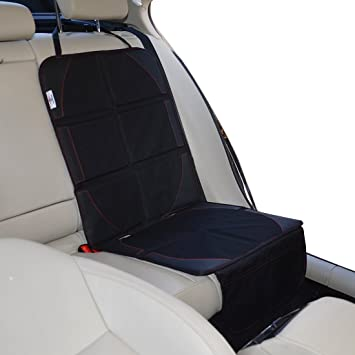 BABY COMMANDER Preimum Car Seat Protector Thick Mat Pad Cover With Pockets Waterproof