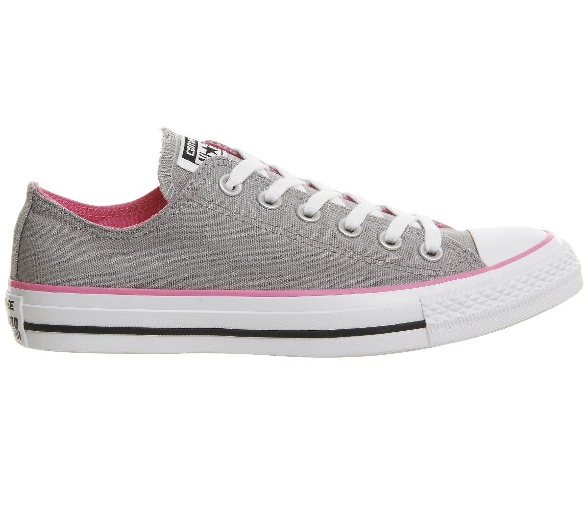 Converse Unisex-Erwachsene CTAS Seasonal-OX-White Monochrome Sneaker  5 UK|Grau/Rosa