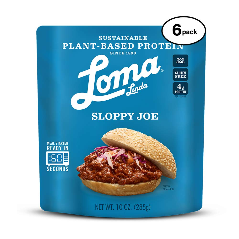 Loma Linda Blue - Plant-Based Meal Solution - Sloppy Joe (10 oz.) (Pack of 6) - Non-GMO, Gluten Free by Loma Linda (Image #1)