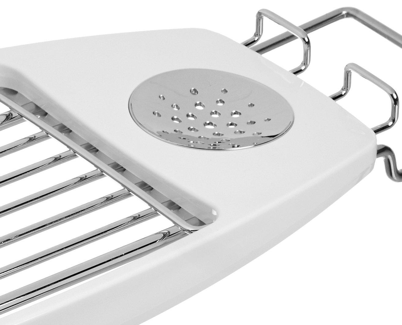 AmazonBasics Bathtub Caddy - drain
