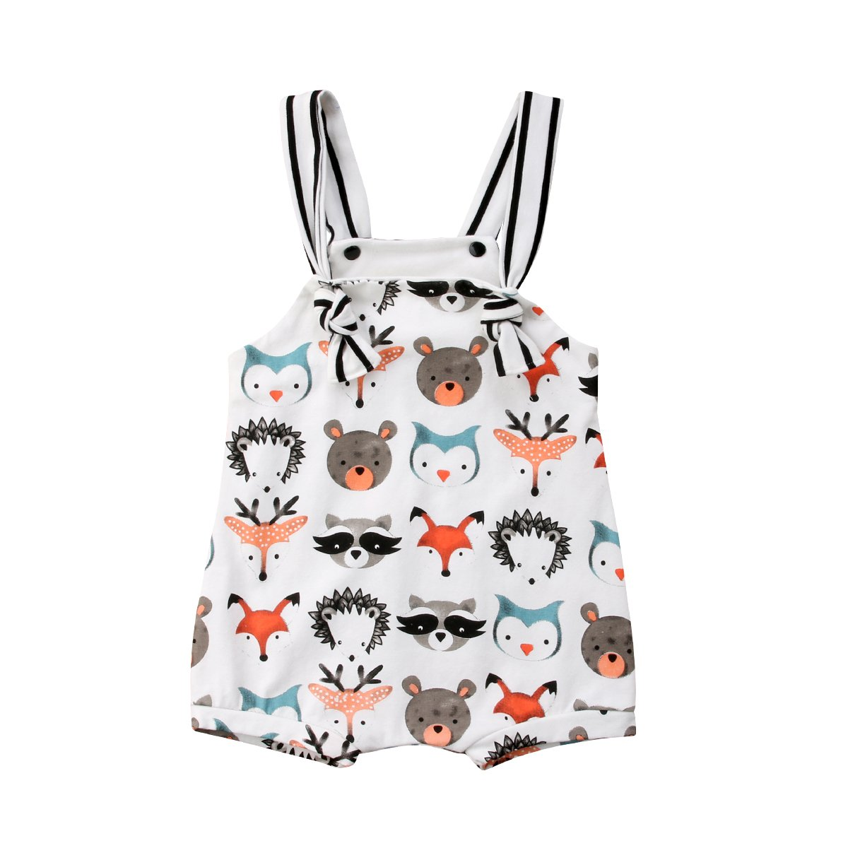 Fansxing Infant Baby Boy Girl Sleeveless Animal Print Romper Jumpsuit One-Piece Outfit