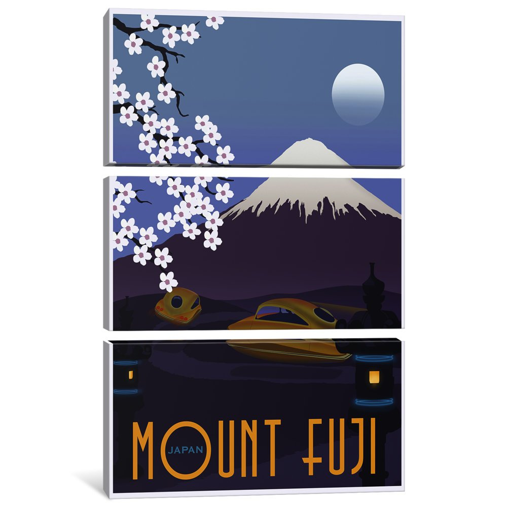 iCanvasART 3-Piece Mt Fuji Canvas Print by Steve Thomas 1.5 by 40 by 60-Inch