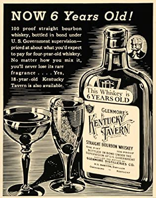 1936 Ad Kentucky Tavern Straight Bourbon Whiskey Liquor - Original Print Ad