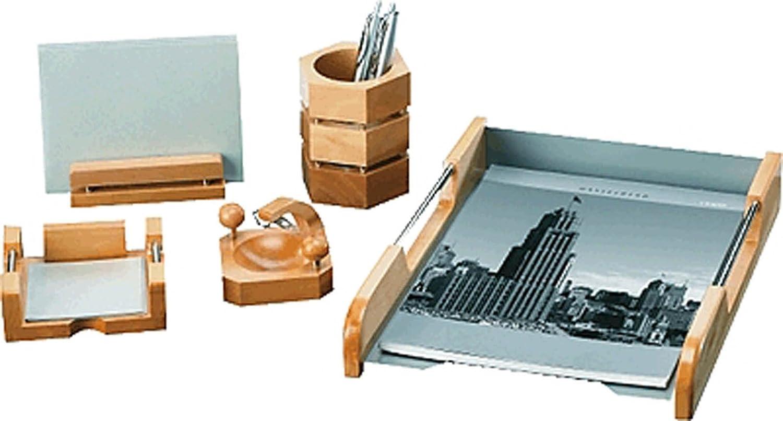 pavo - set di accessori per scrivania, in stile moderno, 6 pezzi ... - Set Da Scrivania Moderno