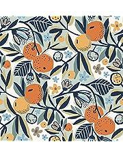 Navy Clementine Garden Peel & Stick Wallpaper