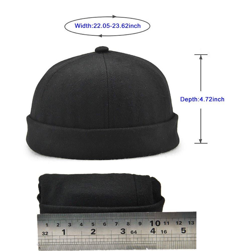 c73e2447b3e Winmany Unisex Women Men skullcap Sailor Cap Rolled Cuff Retro Brimless Beanie  Hat at Amazon Men s Clothing store