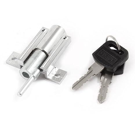 Home armario de seguridad para puerta corredera cerradura de émbolo de Metal con 2 llaves