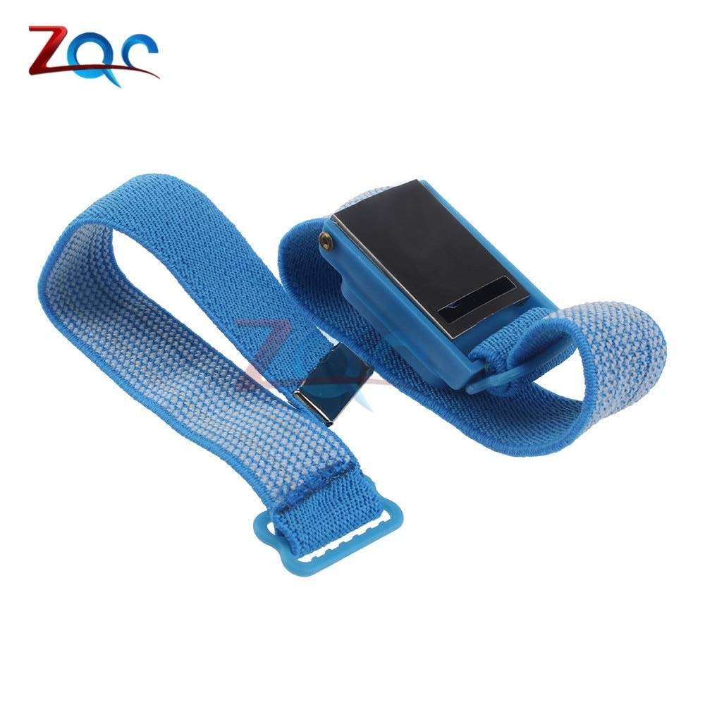 Anti Static Cordless Bracelet ESD Discharge Cable Wrist Strap Cool Blue*~*