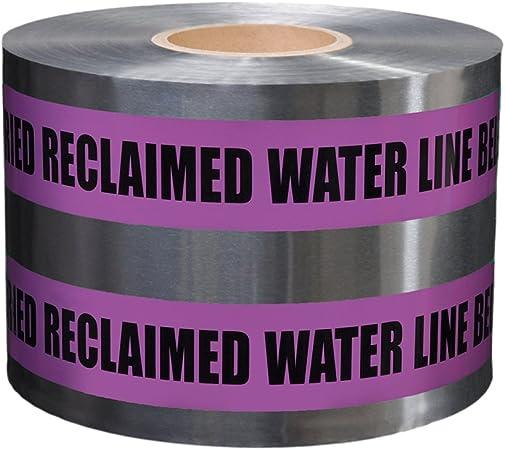 """Detectable Underground Purple Buried Reclaimed Wate Line Below Tape 3/""""x1000/' New"""