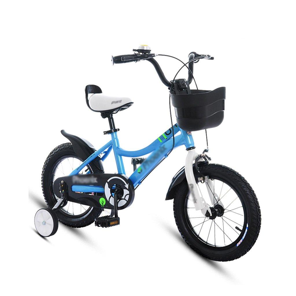 Blau 12 inches BaoKangShop Kinderfahrräder Kinderfahrräder 2-7 Jahre Alt Junge Radfahren 14 16 18 Zoll Mädchen Kinderwagen Kinder Mountainbike (Farbe   Blau, Größe   12 inches)