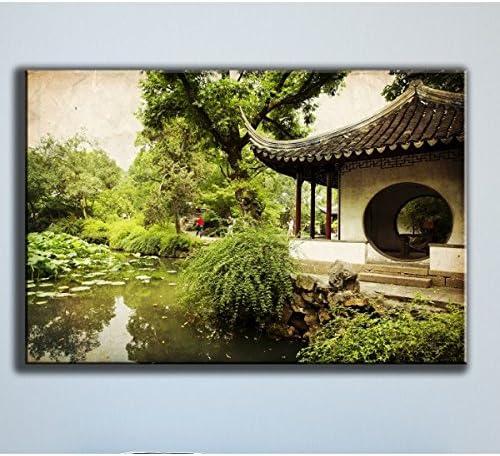 Deco Soon – Cuadro jardín Chino 50 x 75 cm: Amazon.es: Hogar