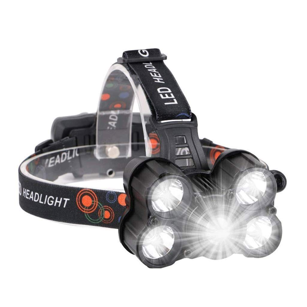 DEFfd USB Glare Five-Head Lamp USB Charging Can Be Used As Charging Treasure 1000 Lumens Waterproof T6 Head Lights by DEFfd