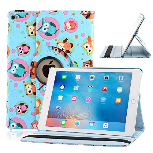 TOPCHANCES Modern Smart Cover Case for iPad 2 3 4 with Auto Sleep/Wake Function and 360 Degree Rotating Stand- (BA692-5 Light Blue)