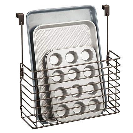 mDesign Mensola per cucina senza forare – Pratico portaoggetti da appendere  per tavolette in legno e taglieri – Porta oggetti cucina in metallo da ...