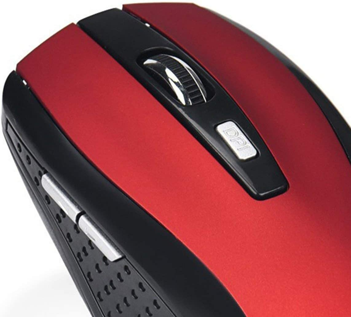 uqiangbao 2.4Ghz 1000Dpi Wireless Optical Mouse 6 Key for Games Office Leisure Use