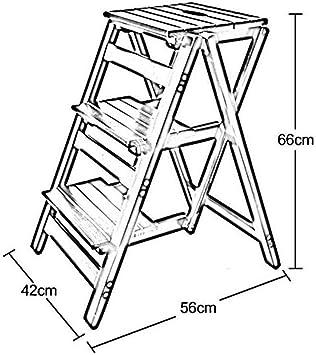 GOG Taburete, escalera plegable Taburetes Escaleras Doble uso Pedal ascendente Soporte de flores 2/3 peldaños Taburete Muebles, negro, 3 capas: Amazon.es: Bricolaje y herramientas