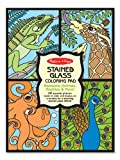 Stained Glass Coloring Pad: Awesome Animals, Reptiles & More!