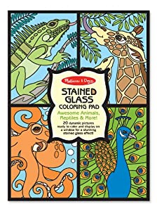 Amazon.com: Melissa & Doug Stained Glass Coloring Pad - Animals ...
