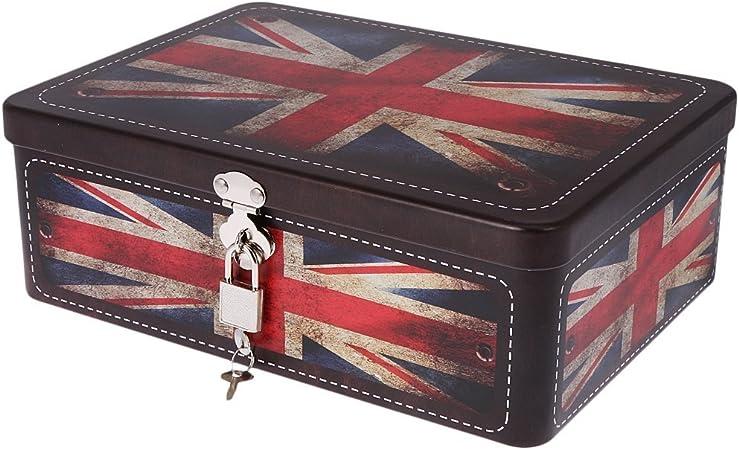 SODIAL Caja de cerradura con llave de metal Caja de ...