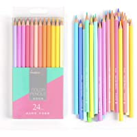 MARCO 24 Pastel Color Pencil Set, Neon Colored Pencils for Adults, Kids, Artists, Pastel Pencils for Drawing, Sketching…