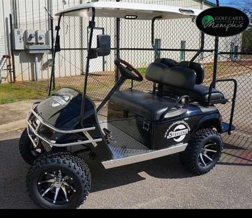 EZGO TXT Electric Golf Cart 2001-Newer 6'' Lift Kit + 12'' Wheels and 23'' All Terrain Tires (4) by Golf Cart Tire Supply (Image #5)