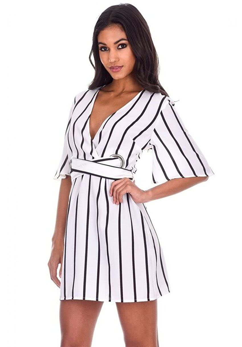 980e1467d192e We are obsessed with this shift dress featuring striped and a simple tie  waist detail. This dress is perfect for day time wear so simply style with  a Pair ...